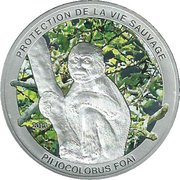 1000 Francs (Protection de la vie sauvage - Piliocolobus Foai) – revers