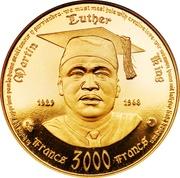 3000 francs (10ème anniversaire de l'Indépendance) – revers