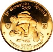 5000 francs (10ème anniversaire de l'Indépendance) – revers