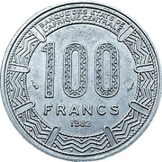 100 francs (type 2) – revers