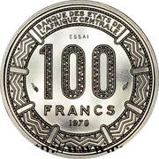 100 francs CFA (Essai) – revers