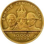 10 000 francs CFA - Bokassa I (Essai) – revers
