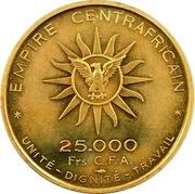 25000 francs CFA  - Bokassa I (Essai) – revers