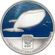 100 francs CFA (Baleine bleue) – revers
