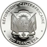 100 francs CFA (Panda géant) – avers
