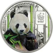 100 francs CFA (Panda géant) – revers