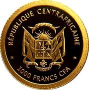 1000 francs (La tour Eiffel Paris) – avers