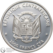 1000 Francs (Butterflies of the world) – avers