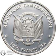 1000 Francs CFA (Papillons exotiques) – avers