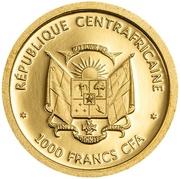 1000 francs (Piliocolobus Foai) – avers