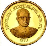 1 Zaïre (5 Years of J.D. Mobutu's Presidency; Gold Proof Issue) – revers