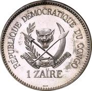 1 zaïre (Essai) – avers
