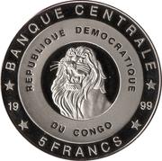 5 francs (Nederland Reine Juliana) – avers
