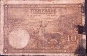 10 Francs Type 1937 – revers