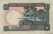 10  Francs (QUATRIEME EMISSION) – revers