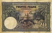 20  Francs (violet; DEUXIEME EMISSION) – revers