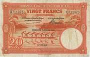 20  Francs (orange; CINQUIEME EMISSION) – avers