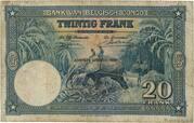 20  Francs (blue; HUITIEME EMISSION) – revers