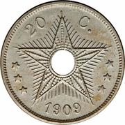 20 centimes - Léopold II – revers