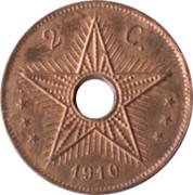 2 centimes - Albert I – revers