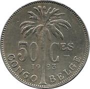 50 centimes - Albert I (en français) – revers