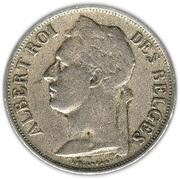 1 franc - Albert Ier (en français) -  avers