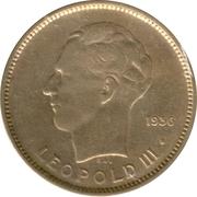 5 francs - Léopold III – revers