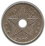 5 centimes - Leopold II – revers