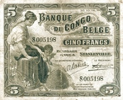 5 Francs (Stanleyville) – avers