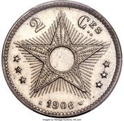 2 centimes - Léopold II (Essai) – avers