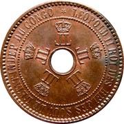 5 centimes - Léopold II – avers