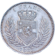 1 franc - Léopold II – revers