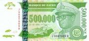 500 000 Nouveaux Zaïres – avers