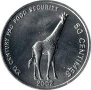 50 centimes (FAO) – revers