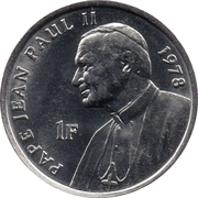 1 franc (Jean Paul II) -  revers