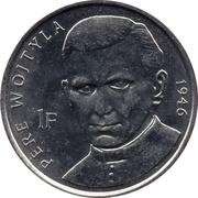 1 franc (Jean Paul II) – revers