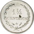 1¼ centavos – revers