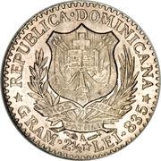 50 centesimos de franco – avers