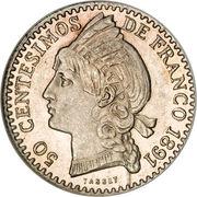 50 centesimos de franco – revers