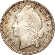 5 francos – revers