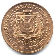 1 centavo Centenaire de la restauration de la République – avers