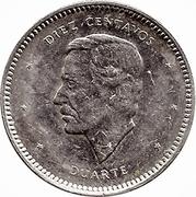 10 centavos Duarte (profil) -  revers