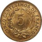 5 centesimos de franco – revers