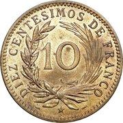 10 centesimos de franco – revers