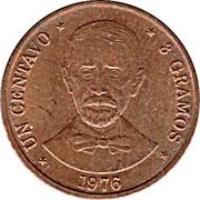 1 centavo (Juan Pablo Duarte) – revers