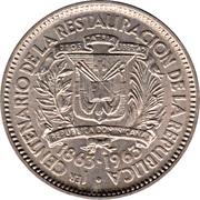 5 centavos (Centenaire de la restauration de la République) – avers