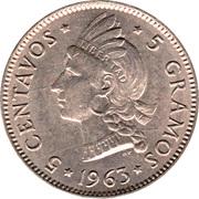 5 centavos (Centenaire de la restauration de la République) – revers