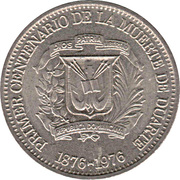 5 centavos (Juan Pablo Duarte) – avers