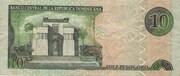 10 Pesos Oro – revers