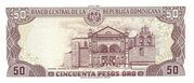 50 Pesos oro – revers